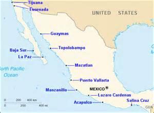 map mexico west coast west coast mexico map