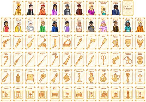 Rooms In Clue Board Game - cluedo cards by sugarysweetsprites on deviantart