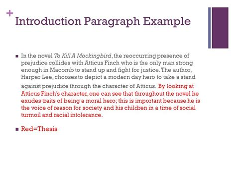 Essay Introductions For To Kill A Mockingbird by To Kill A Mockingbird Essay Ppt