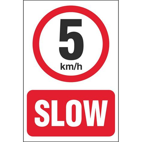 To 5km by 5 Km H Speed Limit Car Park Signs Prohibitory Car