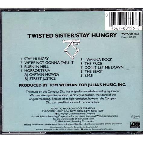 Cd Twisted Stay Hungry stay hungry by twisted cd with mjlam ref 115406059