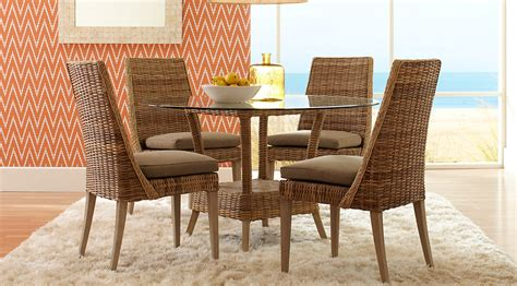 Rattan Dining Room Sets by Rattan Round Casual Dining Room Sets Pictures Eva Home