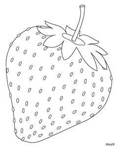 coloriage une fraise dory fr coloriages