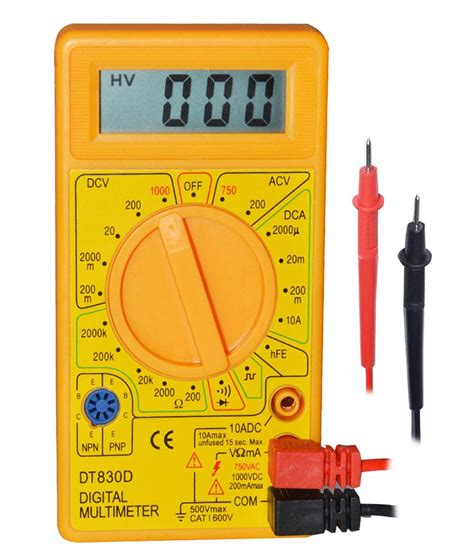MultiMeter Digital LCD AC DC Voltage Diode Trans Small