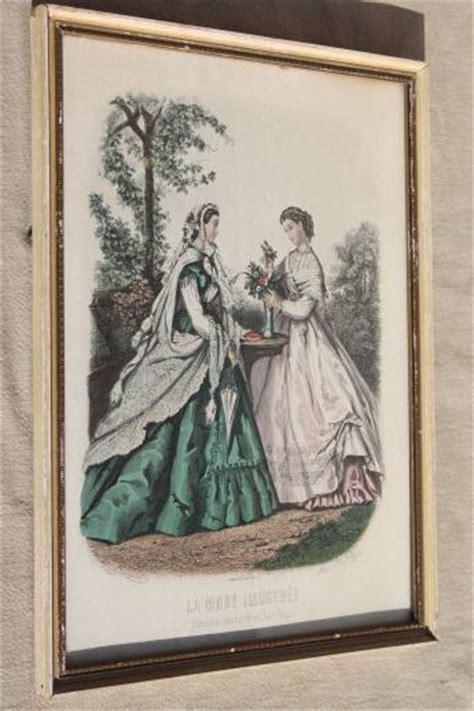 collection  vintage framed godey girls antique ladies fashion prints