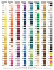 embroidery thread colors embroidery thread color conversion charts free