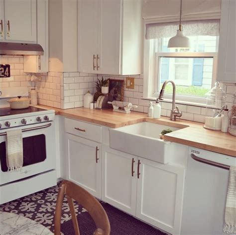 white kitchens with butcher block 20 gorgeous real life kitchens nesting with grace