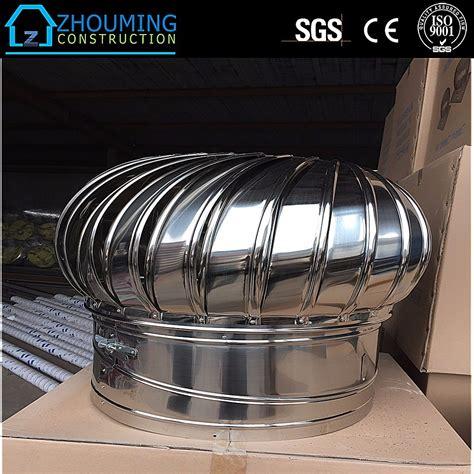 warehouse exhaust fan installation industrial stainless steel wind driven turbine air