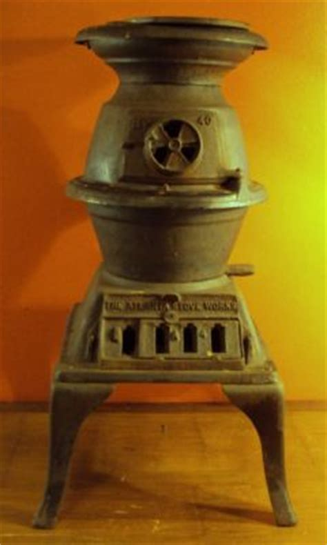 donner and blitzen 65 mountain fir 58592 vintage antique potbelly stove by the atlanta stove works no 40 1889 conestoga