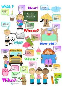 Question words chart and practice for beginners more