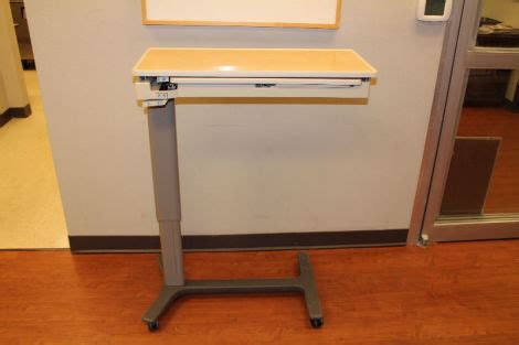 hill rom overbed table used hill rom 631 f overbed table for sale dotmed