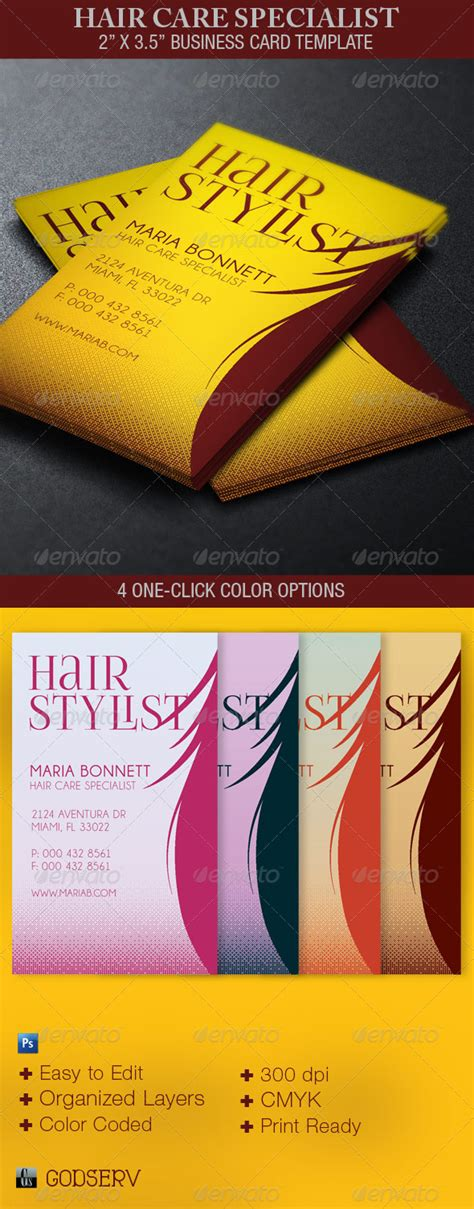 hair and business card template hair care specialist business card template by godserv