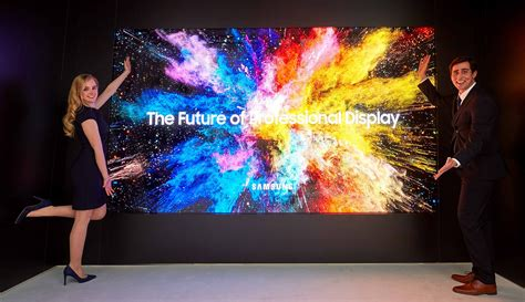 samsung wall tv samsung introduces the wall professional and 3d led cinema displays techspot