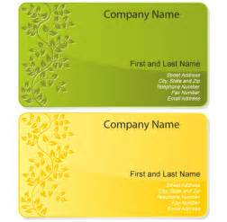 free floral design business card template vector free vector free vectors