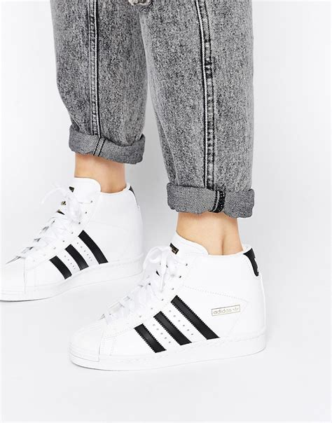 Adidas Superstar High 4 adidas adidas originals superstar concealed wedge white