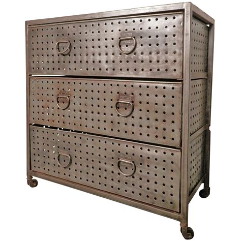 Industrial Dresser Furniture by Accessories Bare Metal Industrial Dresser For Dining Room