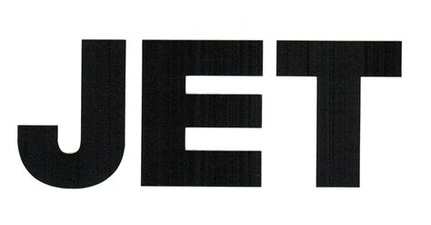 Guitar Home Decor jet band logo rub on sticker black