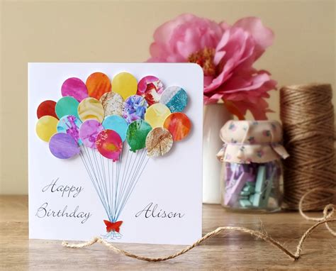 Handmade 3d Cards - handmade personalised birthday card 3d birthday by