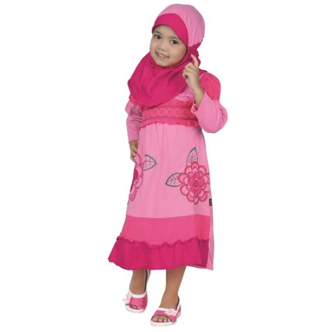 Baju Gamis Anak Perempuan Murah 1 jual gamis setelan baju busana muslim anak perempuan