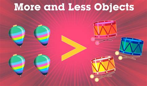 design concept less is more more and less objects elementary maths concept video for