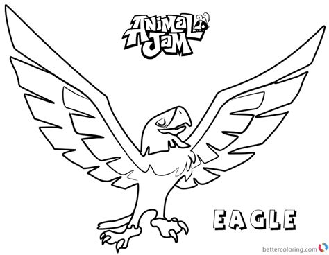animal jam coloring pages eagle animal jam coloring pages eagle free printable coloring