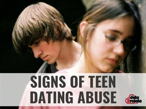 signs of teen dating abuse