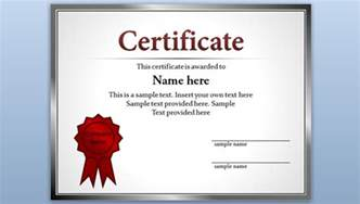 free certificate template for powerpoint 2010 amp 2013