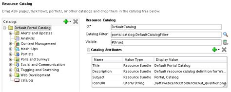 web layout view definition creating and managing resource catalogs