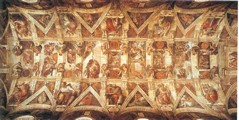 The Painting On The Ceiling Of The Sistine Chapel by Sistineceiling Htm