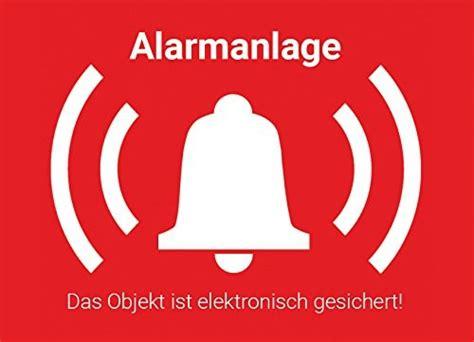 Aufkleber Alarmanlage Wohnmobil 5x aufkleber alarmanlage mit uv schutz aussenklebend 7x5cm