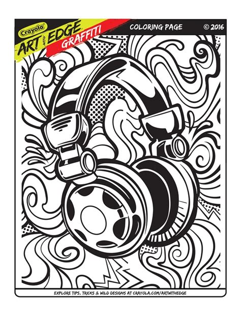 Art With Edge Graffiti Coloring Page   crayola.com