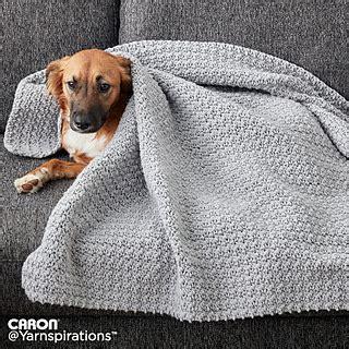 caron yarnspirations ravelry crochet snuggle pet blanket pattern by