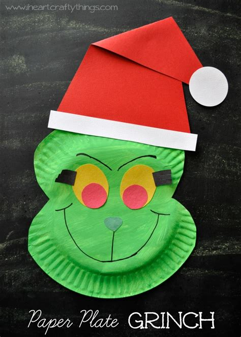 Creative Christmas Crafts For Kids - 25 grinch crafts and cute treats