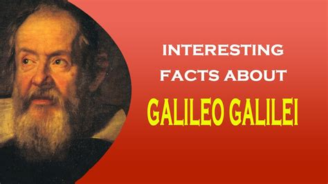 galileo biography facts famous scientist galileo galilei interesting facts youtube
