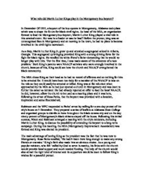 Montgomery Boycott Essay by The Montgomery Boycott Essay Help Writing Paper