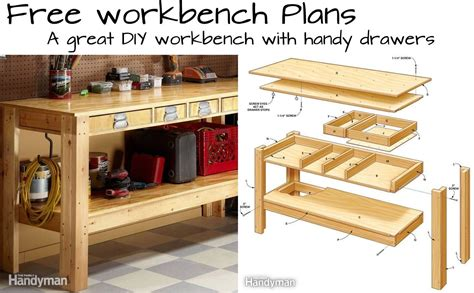 build  simple workbench  drawers woodwork city