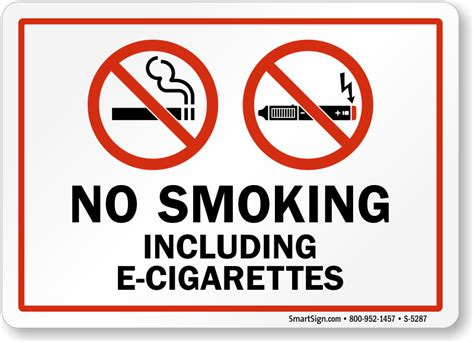 No Smoking Sign E Cigarettes | image gallery no e cigarette signs