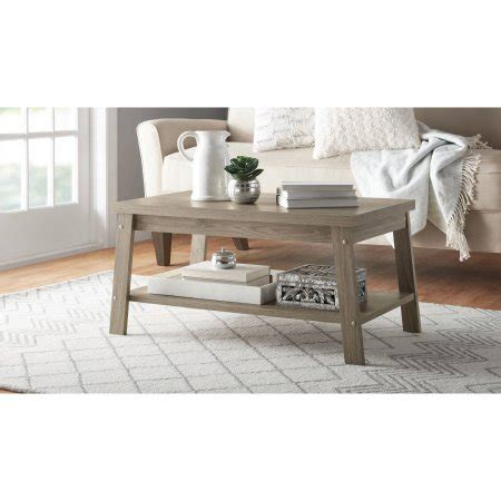 mainstays logan coffee table mainstay logan coffee table color rustic oak shop