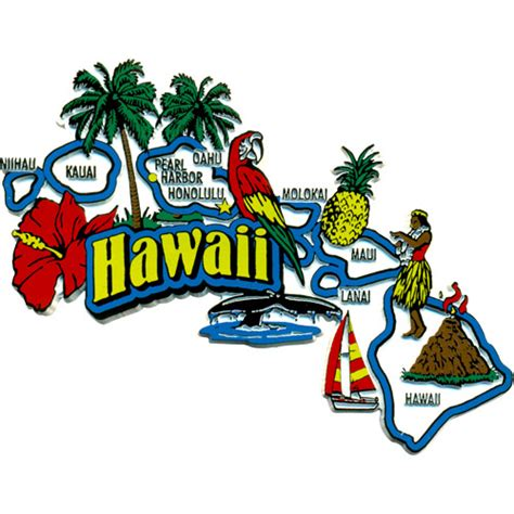 hawaii state refrigerator magnet