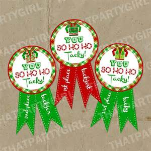 ugly sweater holiday party awards diy instant download