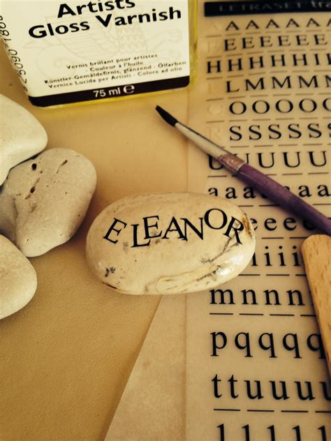 how to make beautiful name stone gifts thrifty home