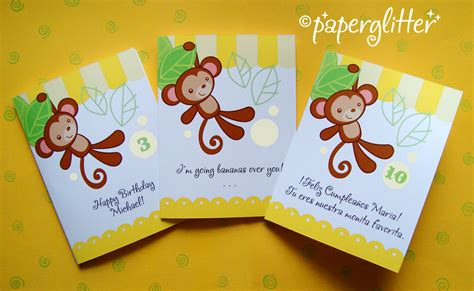 printable birthday cards with monkeys free baby monkey clip art