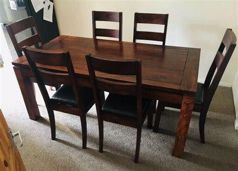 large john lewis mahogany dining table   chairs