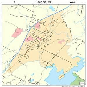 freeport map freeport maine map 2326490