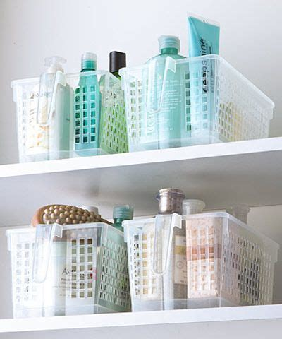 the container store little baskets for the bathroom i