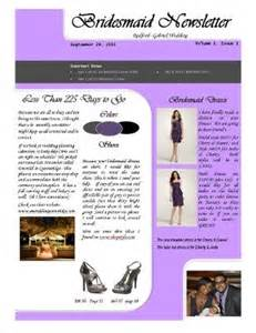 bridesmaid newsletter template bridesmaid newsletter lets see it weddings