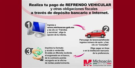 consultar pago de tenencia 2016 en michoacan resta una semana para el pago oportuno del refrendo