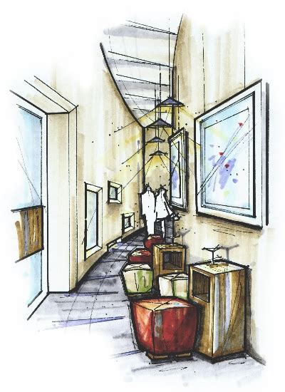 Interior Sketching Tutorials by I Rendering Architectural Rendering Perspective Design