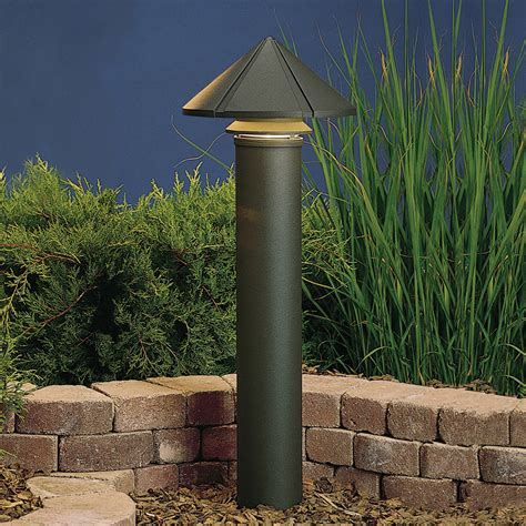 120v landscape lighting kichler 15211azt six groove 120v large one tier path spread light