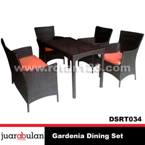Set Meja Makan Rotan harga jual gardenia dining set meja makan rotan sintetis dsrt034 model gambar
